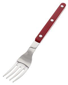 Sabre Bistrot Solid tafelvork 21 cm kunststof rvs rood