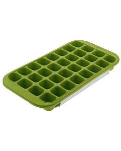 Lékué ijsblokjesvorm met houder 32 ijsblokjes silicone groen