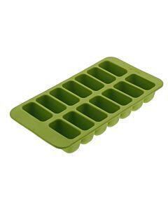Lékué ijsblokjesvorm rechthoeken 14 ijsblokjes silicone groen