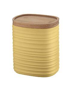 Guzzini Tierra M voorraadpot 1 liter kunststof Mustard Yellow