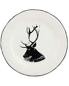 Gien Chambord Cerf portrait dessertbord ø 23,2 cm keramiek