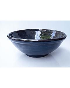 Oldenhof 1821 saladeschaal ø 33 x 13 cm aardewerk spikkelblauw