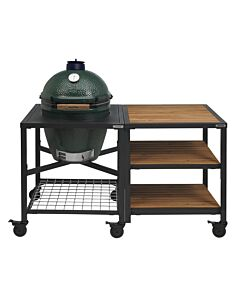 Big Green Egg Modular Outdoor Workspace compleet systeem Wood-Wood-Wood incl. Large barbecue