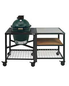 Big Green Egg Modular Outdoor Workspace compleet systeem SS-Wood-Grid incl. Medium barbecue