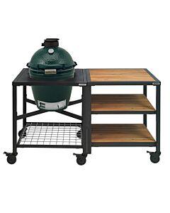 Big Green Egg Modular Outdoor Workspace compleet systeem Wood-Wood-Wood incl. Medium barbecue