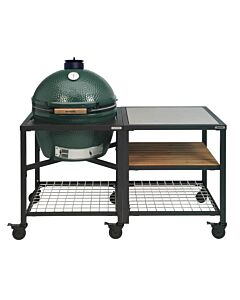 Big Green Egg Modular Outdoor Workspace compleet systeem SS-Wood-Grid incl. Extra Large barbecue