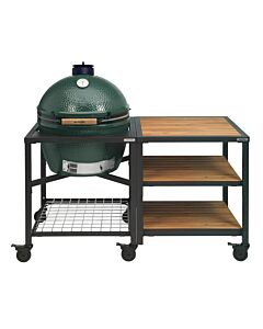 Big Green Egg Modular Outdoor Workspace compleet systeem Wood-Wood-Wood incl. Extra Large barbecue