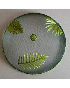 Home & Kitchen supply vliegenkap groene bladeren ø 35,5 cm