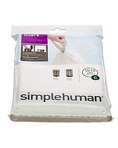 Simplehuman type C afvalzakken 10 -12 liter 20 stuks