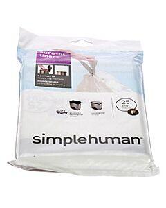 Simplehuman type F afvalzakken 25 liter 20 stuks