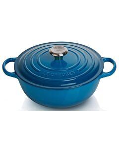 Le Creuset wok-braadpan 4,1 liter ø 26 cm gietijzer Marseilleblauw