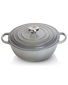 Le Creuset wok-braadpan ø 28 cm gietijzer mist grey