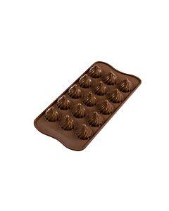 Silikomart 3D EasyChoc Choco Flame bonbonvorm silicone bruin
