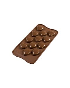 Silikomart 3D EasyChoc My Love bonbonvorm silicone bruin