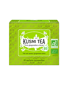 Kusmi Tea BIO Green Ginger-Lemon 20 theezakjes felgroen