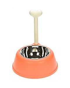 Alessi Lupita hondenvoerbak oranje