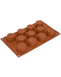 Silikomart bakvorm 11 muffins ø 5,1 silicone bruin