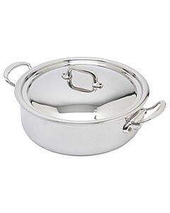 Mauviel M'Cook lage braadpan met deksel ø 28 cm rvs