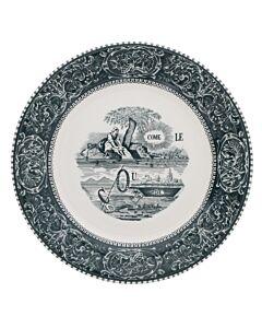 Gien Rebus dinerbord ø 27,5 cm keramiek groen