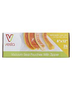 Vesta vacuümzakken met zipsluiting 20,3 x 30,5 cm 25 stuks