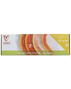 Vesta vacuümzakken met zipsluiting 27,9 x 40,6 cm 25 stuks