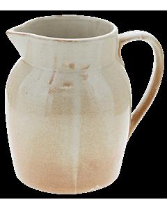 Oldenhof 1821 Hazelnut karaf 1 liter aardewerk crème