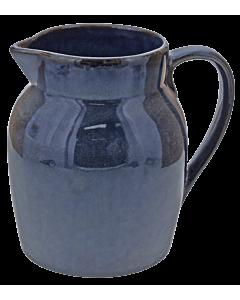 Oldenhof 1821 Hazelnut karaf 1 liter aardewerk blauw