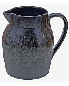 Oldenhof 1821 Hazelnut karaf 1 liter aardewerk spikkelblauw
