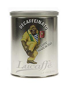 Lucaffé Decaffeinato gemalen koffie blik 250 gram