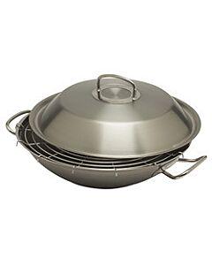 Fissler original-profi wok met deksel ø 30 cm rvs mat