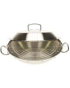 Fissler original-profi wok met deksel ø 35 cm rvs mat