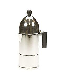 Alessi La Cupola mokapot 3-kops aluminium glans