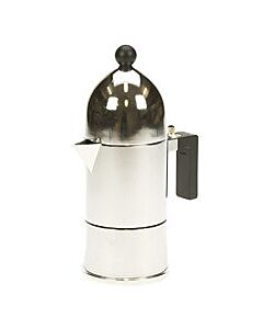 Alessi La Cupola mokapot 1-kops aluminium glans