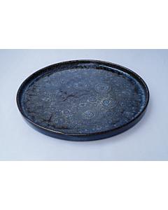 Oldenhof 1821 bord Angel ø 30 cm aardewerk spikkelblauw