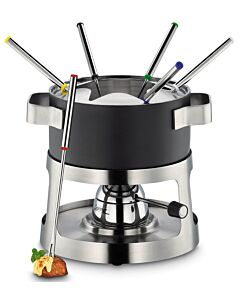 Spring Andermatt fondueset ø 18 cm 6-persoons mat zwart