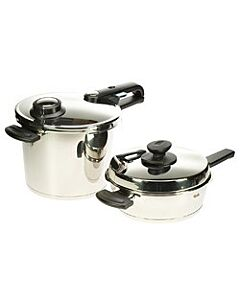 Fissler Vitavit Premium snelkook- en braadpan set 2,5 en 6 liter rvs
