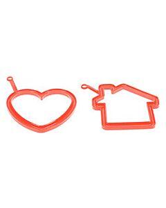 Silikomart eibakvorm hart en huis ø 10 cm silicone rood 2-delig