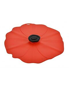 Charles Viancin Poppy deksel ø 23 cm silicone rood