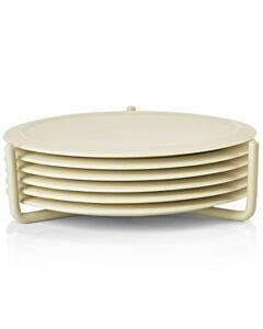 Zone Denmark Singles onderzetter ø 10 cm silicone kalksteen 6 stuks