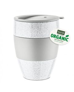 Koziol Aroma To Go 2.0 thermosbeker met deksel 400 ml grijs