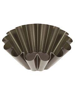 Gobel briochevorm ø 20 cm staal bruin