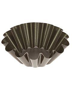 Gobel briochevorm ø 18 cm staal bruin
