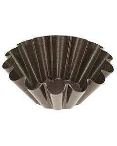 Gobel briochevorm ø 16 cm staal bruin