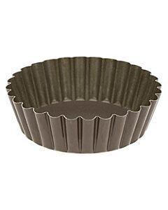 Gobel hoge quichevorm met uitneembare bodem ø 10 cm staal bruin