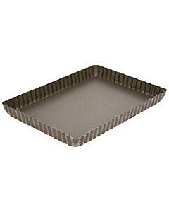 Gobel quichevorm met uitneembare bodem 29 x 20,5 cm staal bruin