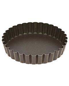 Gobel quichevorm met uitneembare bodem ø 14 cm staal bruin