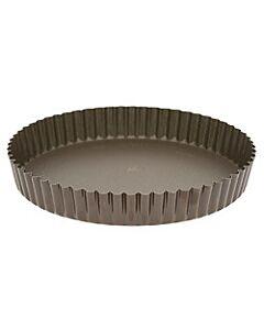 Gobel quichevorm met uitneembare bodem laag ø 24 cm staal bruin