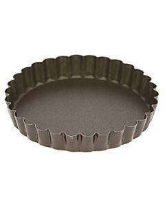 Gobel quichevorm met uitneembare bodem ø 12 cm staal bruin