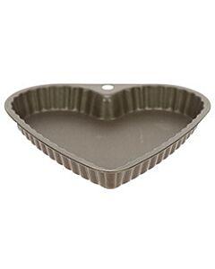 Gobel bakvorm hart met uitneembare bodem ø 25 cm staal bruin