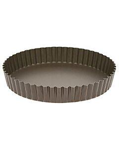 Gobel quichevorm met uitneembare bodem laag ø 22 cm staal bruin